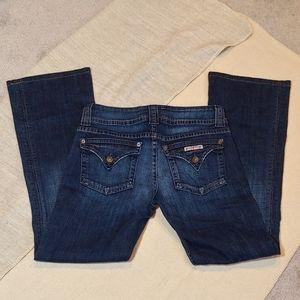 Hudson button pockets dark wash jeans